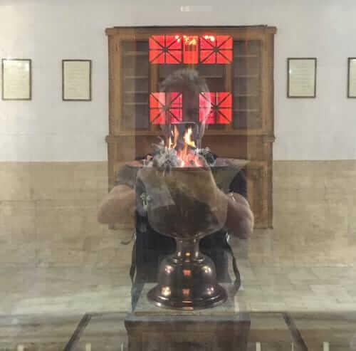 Flamme du temple du feu