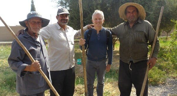 Gardeners and Pascal in Yazd