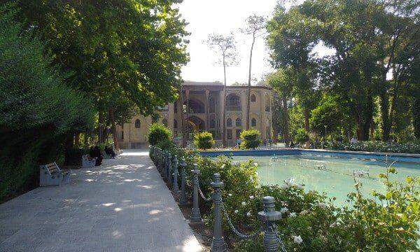 Shaded gardens of the Hasht-Behesht Palace