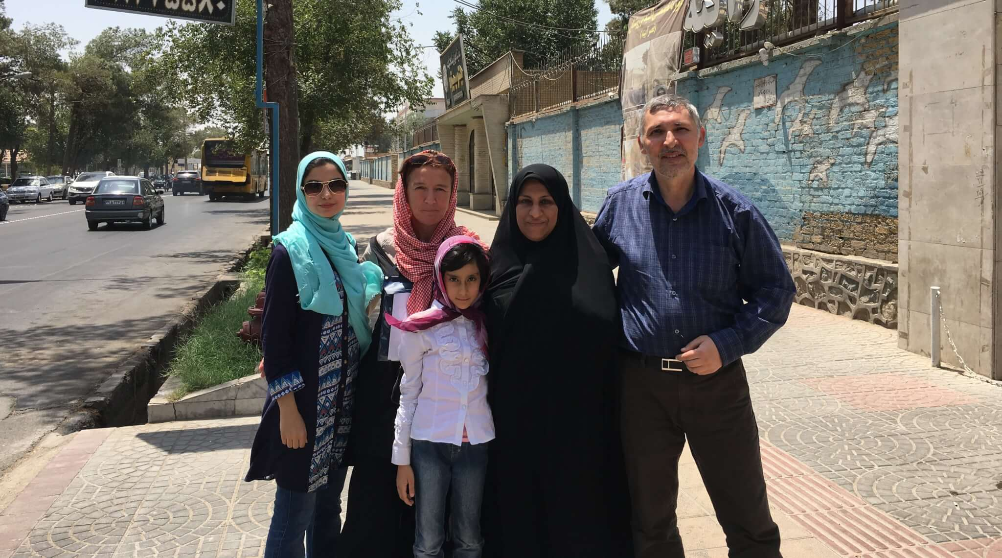 Meeting with a family in Yazd at the Water Museum