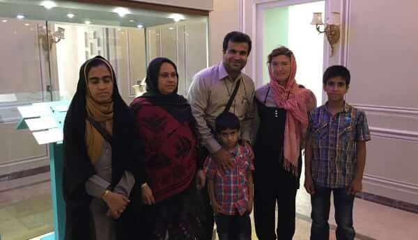 New meeting with a family in Yazd