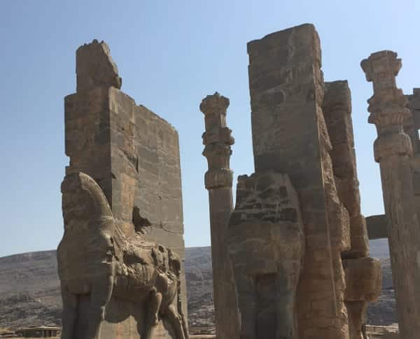 Statues at the entrance of Persepolis