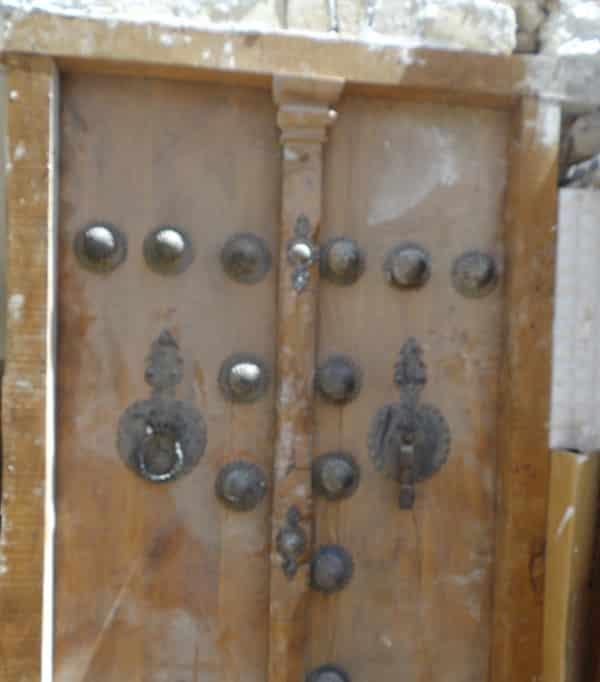 Détail d'une porte d'entrée à Kashan