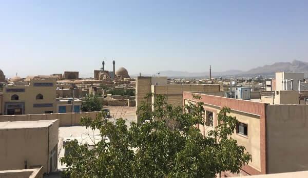 Vue du toit de l'hôtel - Ispahan