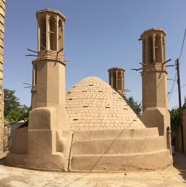 Wind towers in the village of Saryazd