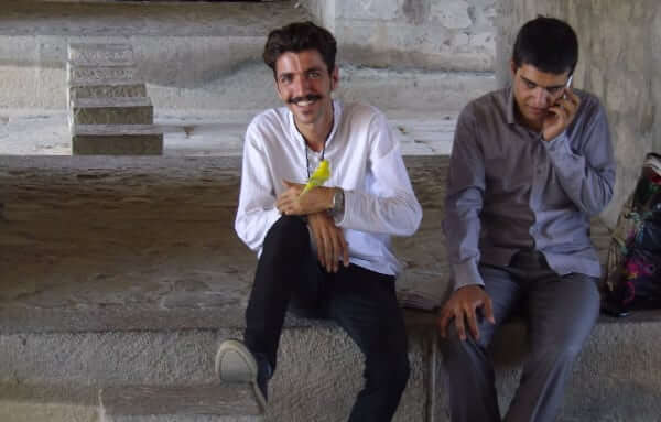 Young people under the Isfahan bridges