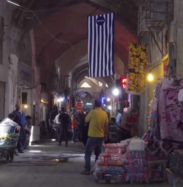Bazar à Ispahan à coté de la mosquée St-James