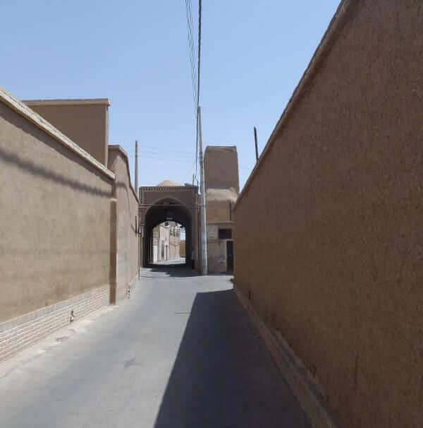Labyrinthe de ruelles à Kashan