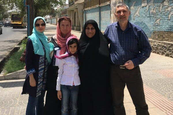 Meeting of a family in Yazd at the Water Museum