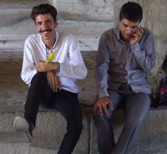Young people under the bridges of Isfahan