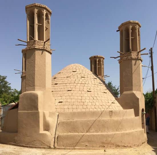 A Badgir or wind tower in Saryazd