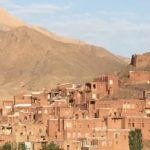 View of Abyaneh from the surrounding mountains